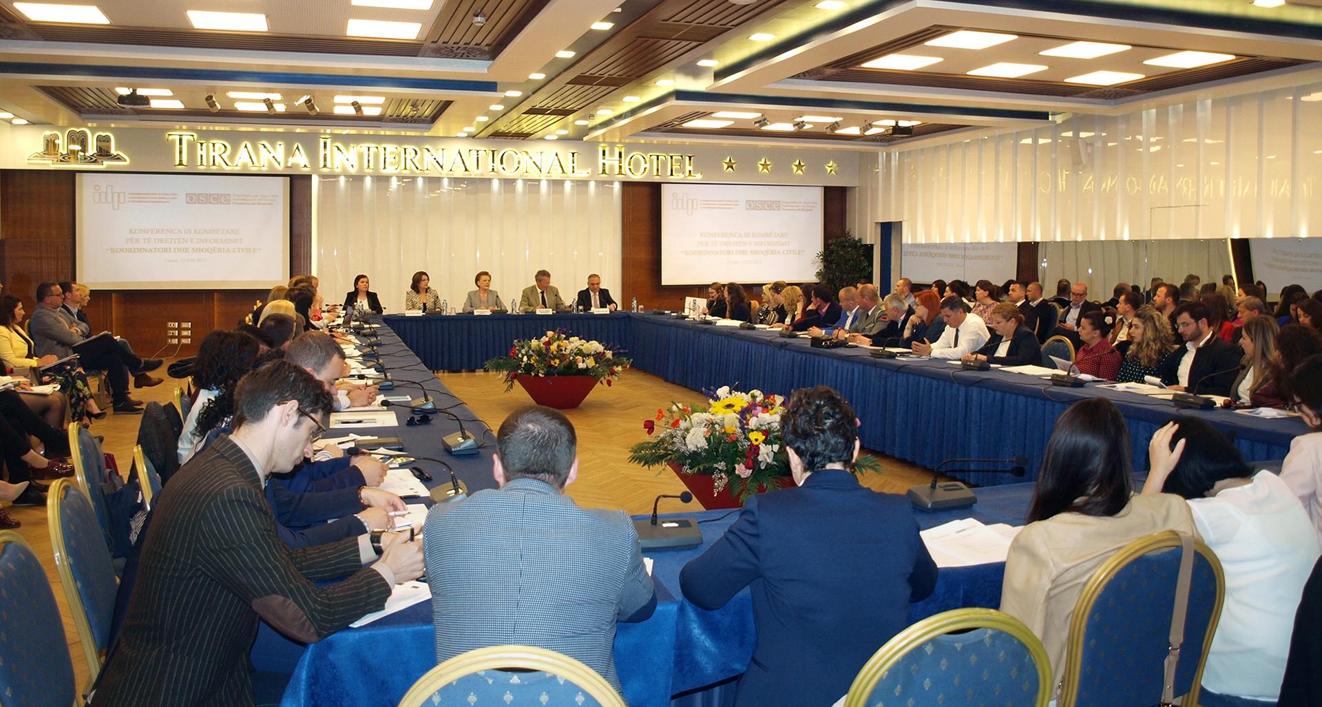 Konferenca III Kombëtare e të Drejtës për Informim, Koordinatori dhe Shoqëria Civile