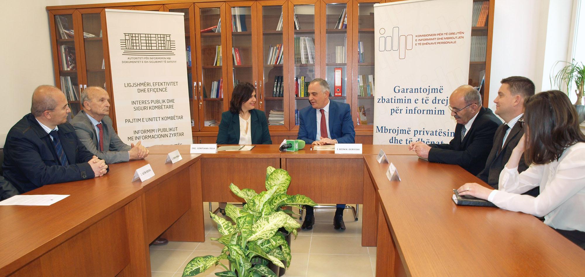 Zyra e Komisionerit marrëveshje bashkëpunimi me Autoritetin për Informimin mbi Dokumentet e Ish Sigurimit të Shtetit