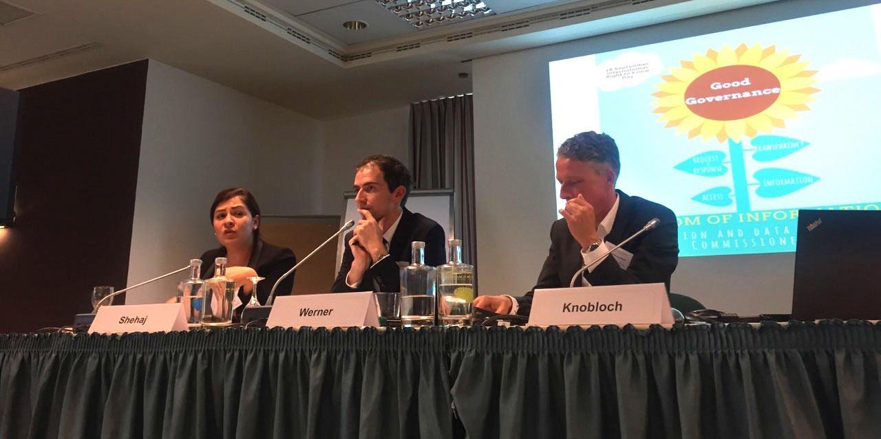"""Konferenca ndërkombëtare """"Mbrojtja e të dhënave dhe e drejta e informimit – në kontraditë apo në mbështetje të njëra-tjetrës?"""""""