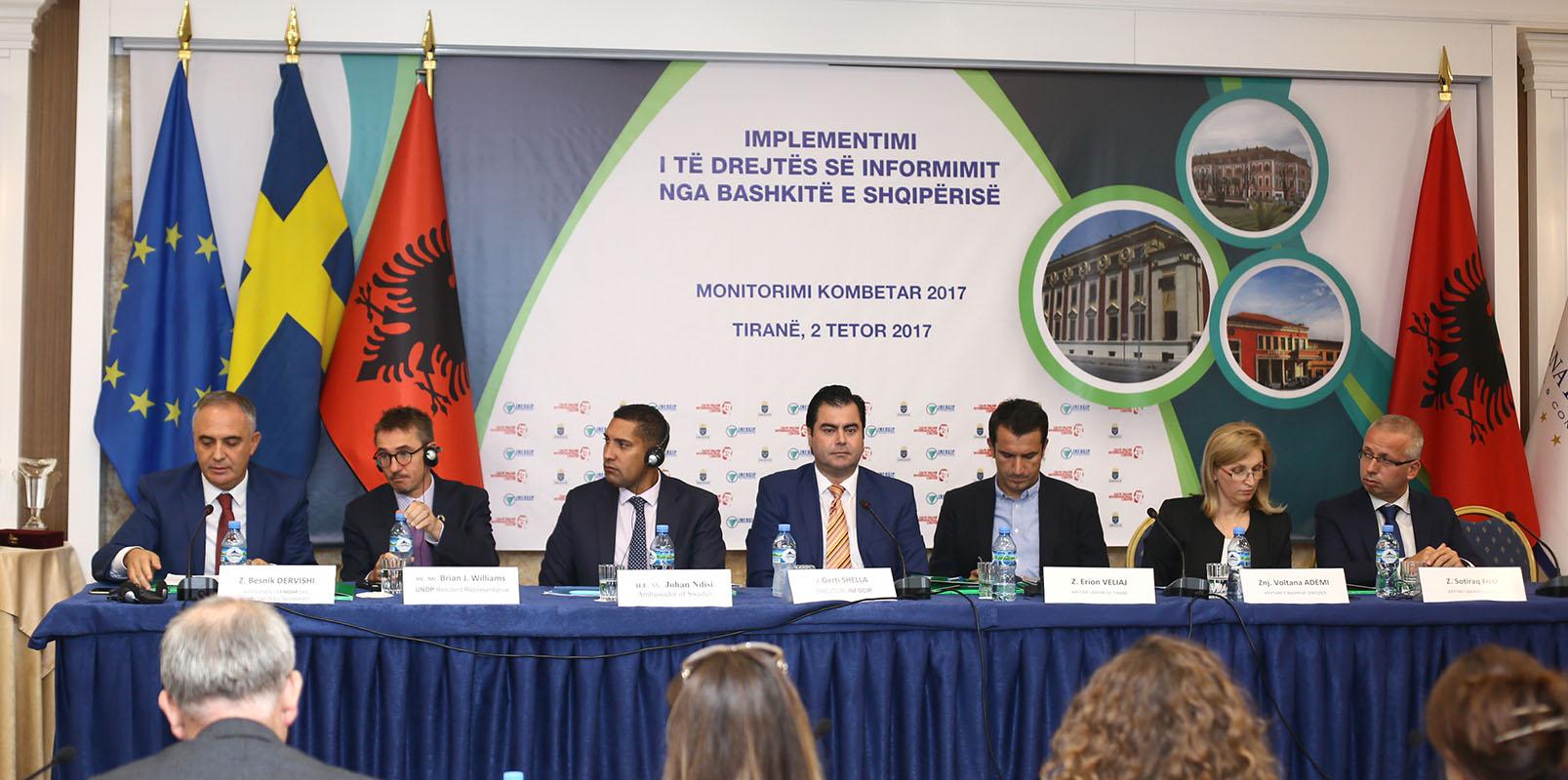"""Prezantohen gjetjet e """"Monitorimit Kombëtar për ligjin e të drejtës për informim nga bashkitë e Shqipërisë"""""""