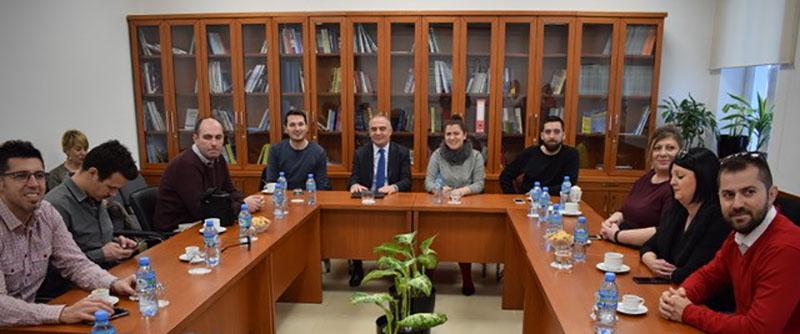Takim me një grup gazetarësh nga Republika e Maqedonisë
