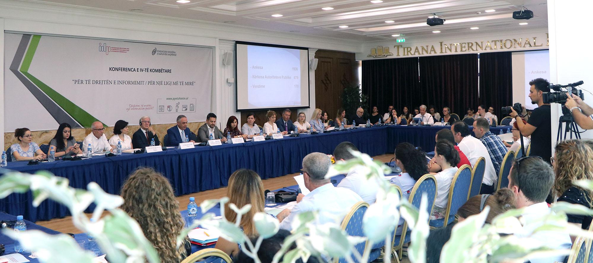 """Konferenca IV Kombëtare """"Për të drejtën e informimit – Për një ligj edhe më të mirë"""""""