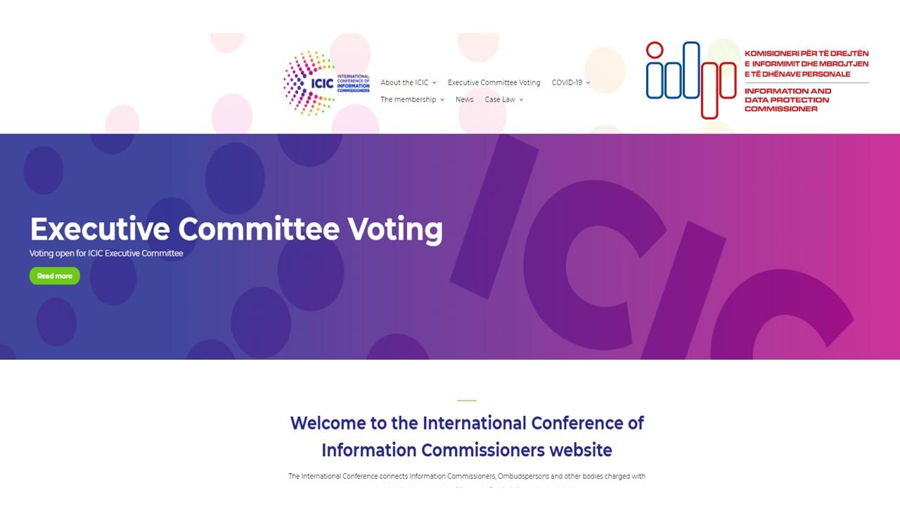 Zyra e Komisionerit, anëtare e Komitetit Ekzekutiv të Konferencës Ndërkombëtare të Komisionerëve të Informimit