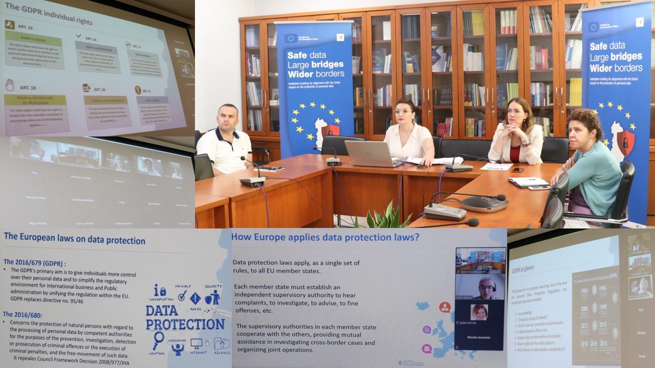 Webinar-i V për kuadrin e ri ligjor për mbrojtjen e të dhënave personale me përfaqësues të Prokurorisë dhe Policisë