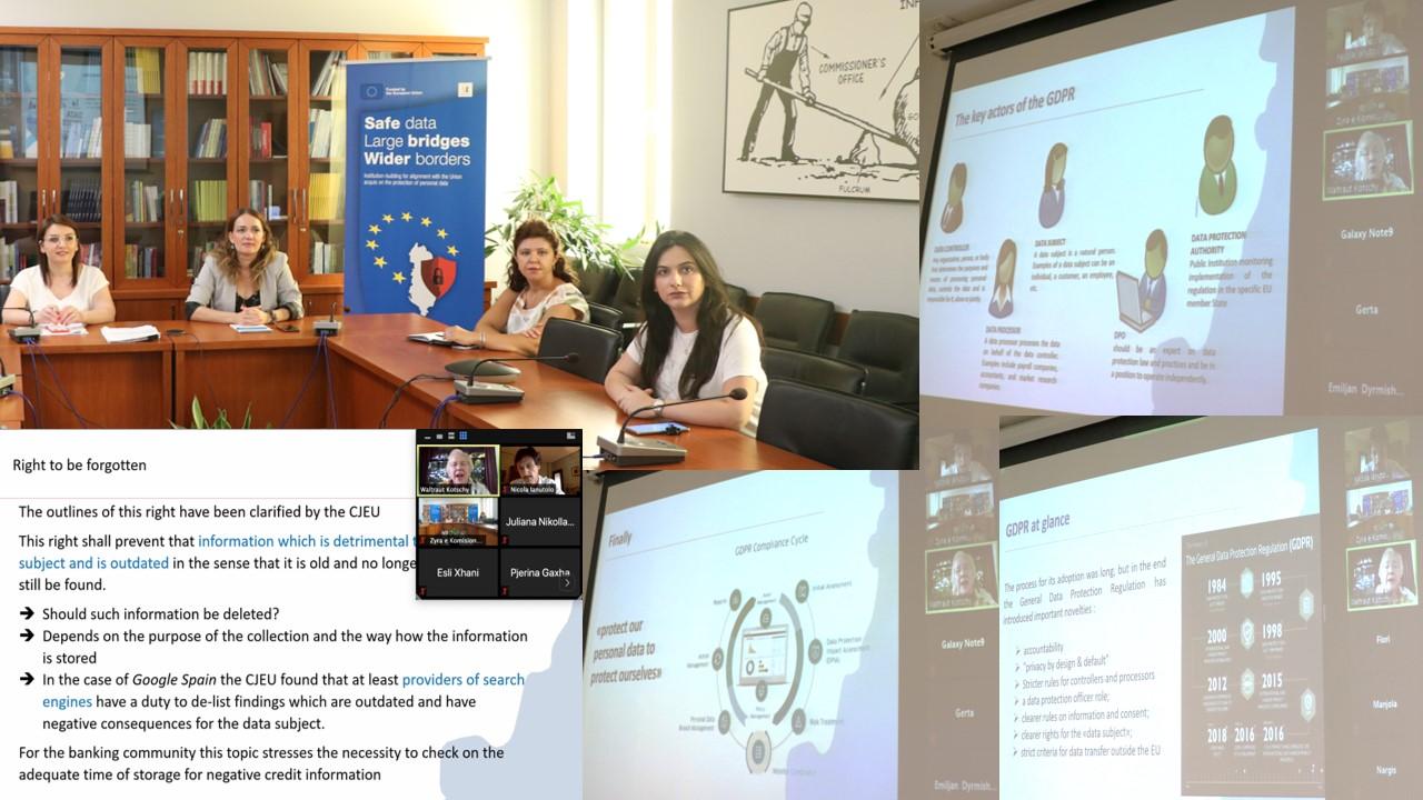 Njohja e legjislacionit të ri për mbrojtjen e të dhënave personale nga sektori bankar/financiar dhe ai i telekomunikacionit, webinar-i VI